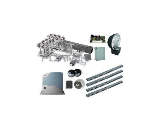 Комплектующие для откатных (сдвижных) ворот весом до 350 кг или шириной 3,5 м (набор-комплект) с комплектом автоматики NICE RB400KCE, фото 1