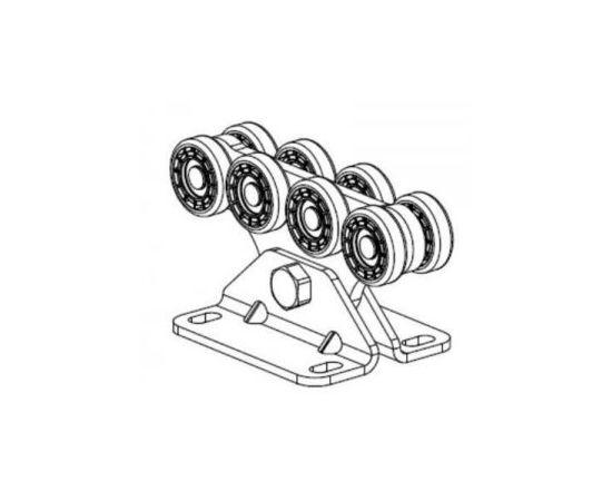 Опора (каретка) роликовая (пластик. ролики) SGN.02.140 для откатных (сдвижных) ворот, фото 1