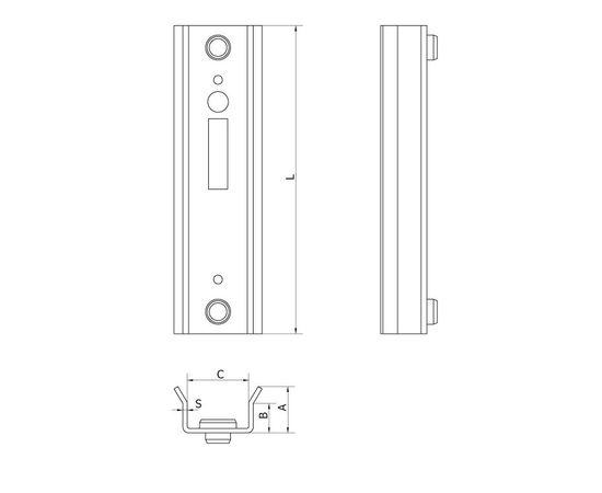 Улавливатель для замка-крюка, ширина 52 мм, для откатных (сдвижных) ворот, фото 2
